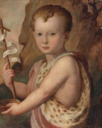 Portrait of a young boy, traditionally identified as Ferdinando de Medici, as the Infant Saint John the Baptist