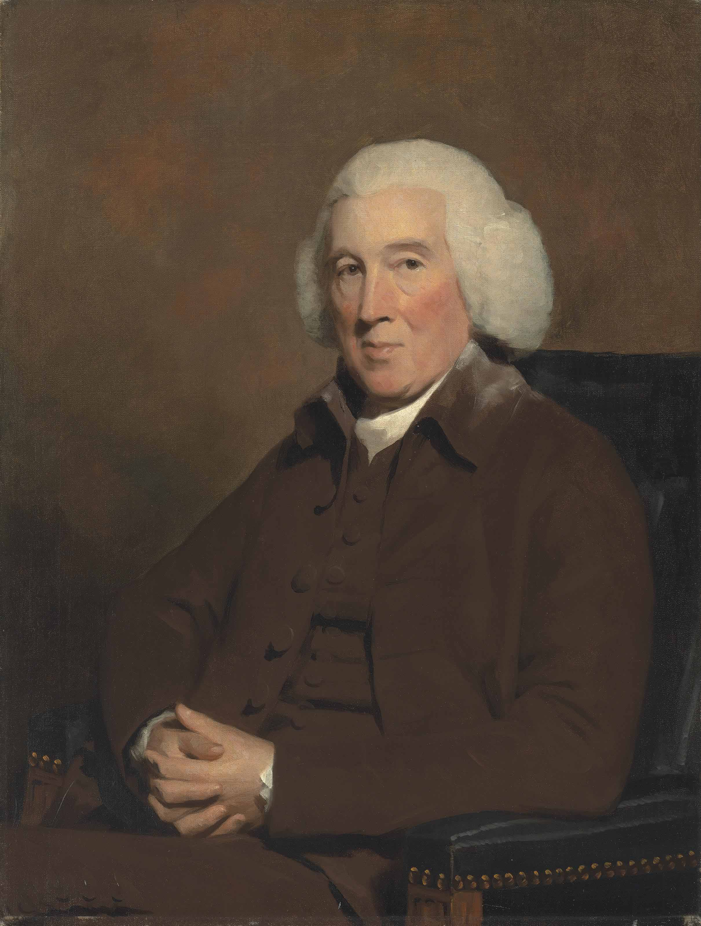 Portrait of John Pitcairn, Provost of Dundee, half-length, in a brown waistcoat, jacket and a cravat