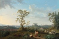 A view of Rome seen from the Villa Patrizi, with Santa Maria Maggiore and San Giovanni in Laterano beyond
