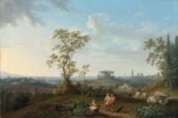 A view of Rome seen from the Villa Patrizi, with Santa Maria Maggiore and San Giovanni in Laterano beyond