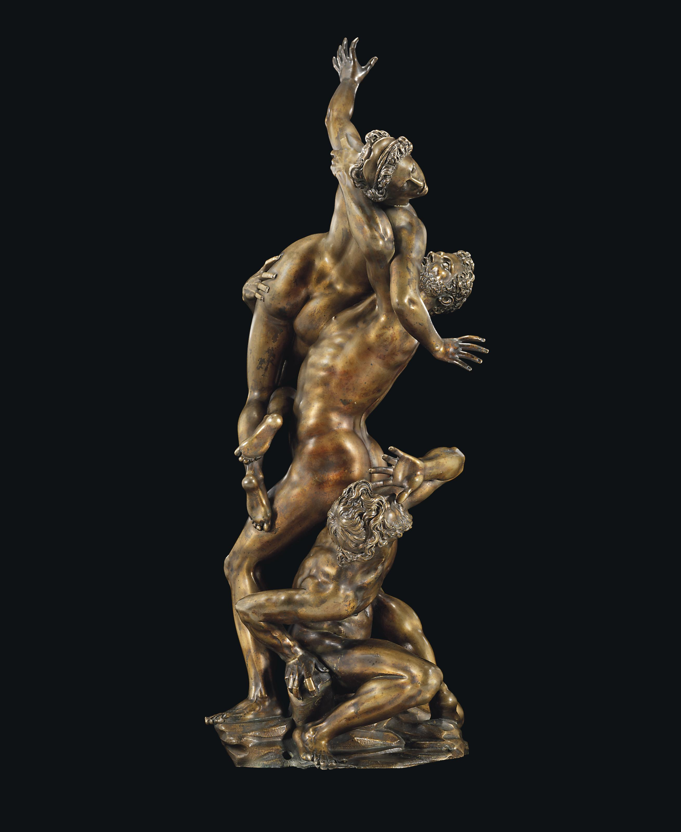 A BRONZE GROUP OF THE RAPE OF