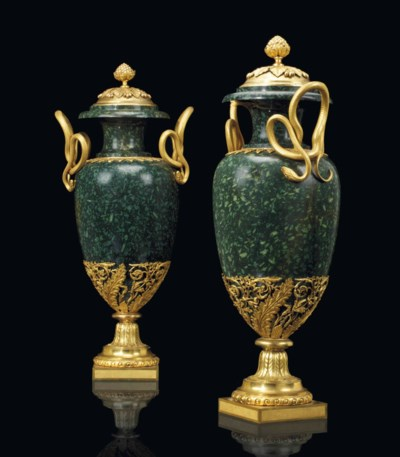 A PAIR OF LARGE RUSSIAN ORMOLU