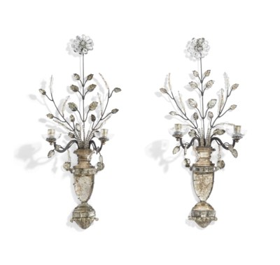 A PAIR OF LOUIS XV STYLE SILVE