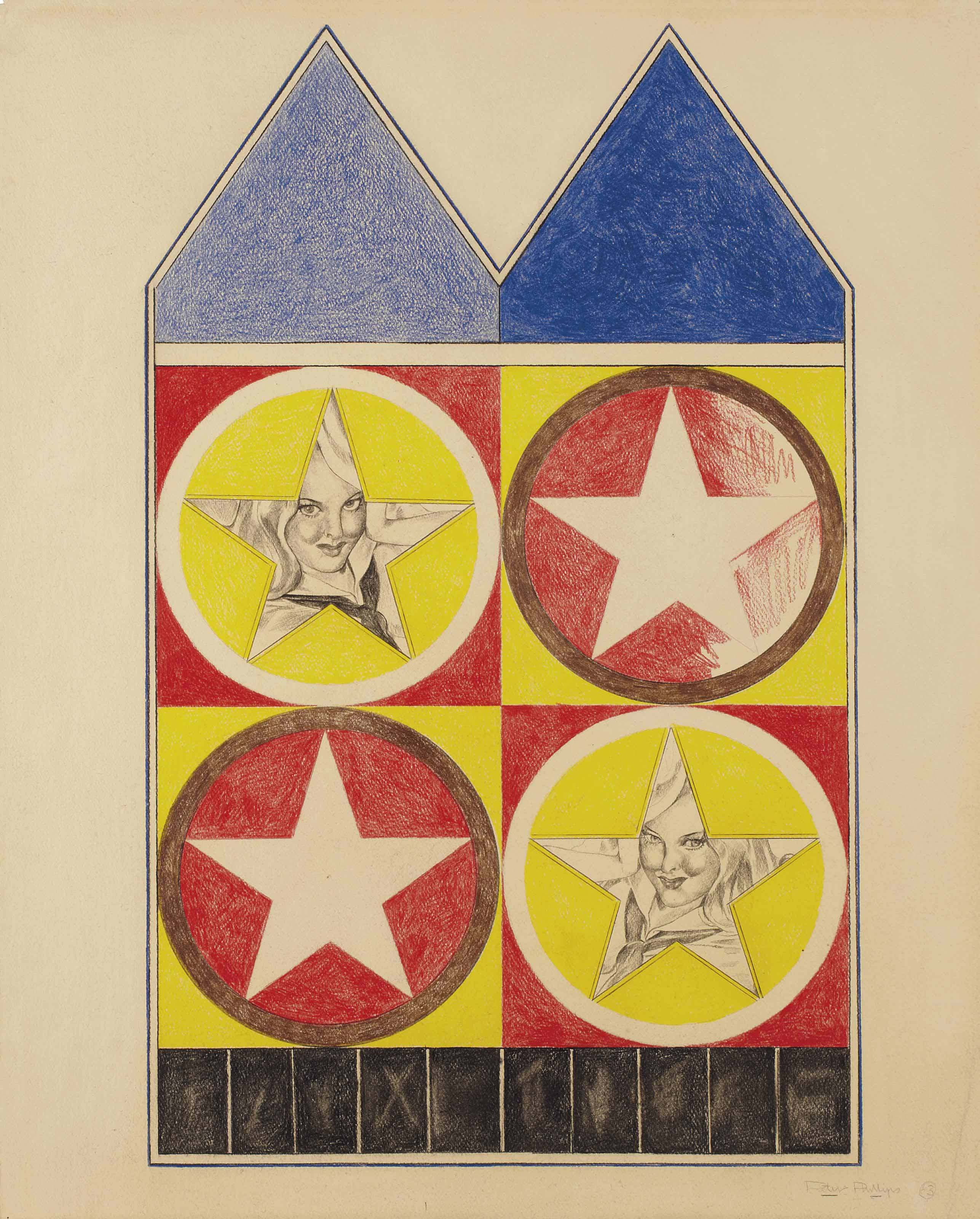 Study for Four Stars