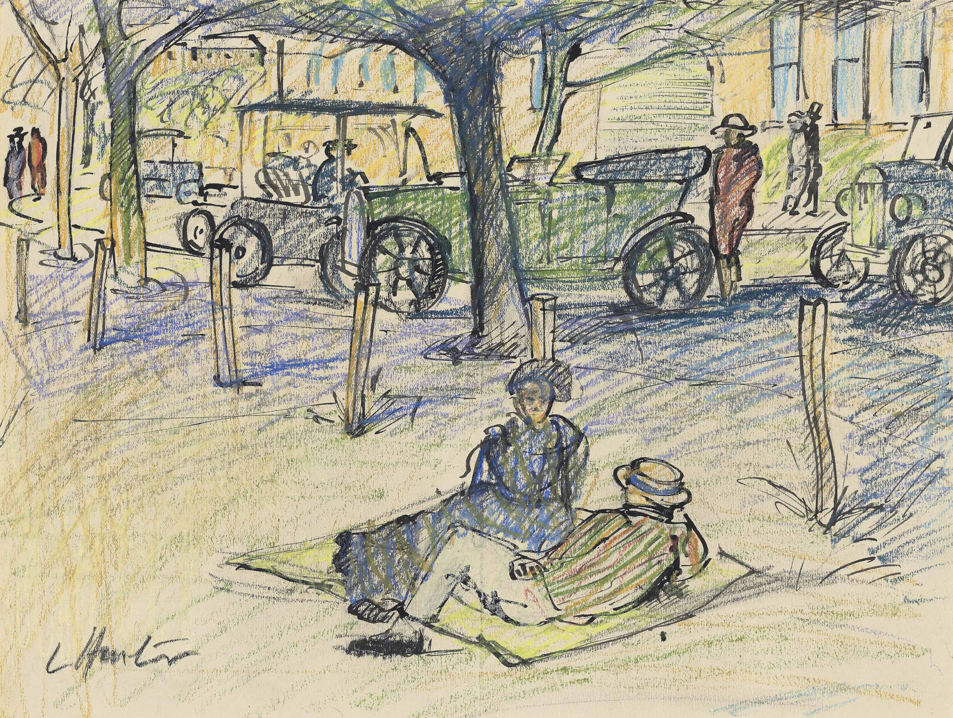 Figures in a Boulevard