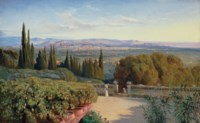 View of Florence from Villa Petraja