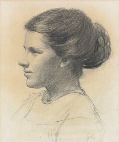 Sir George Clausen, R.A., R.W.S. (London 1852-1944 Cold ... |Sir George Clausen Head Girls