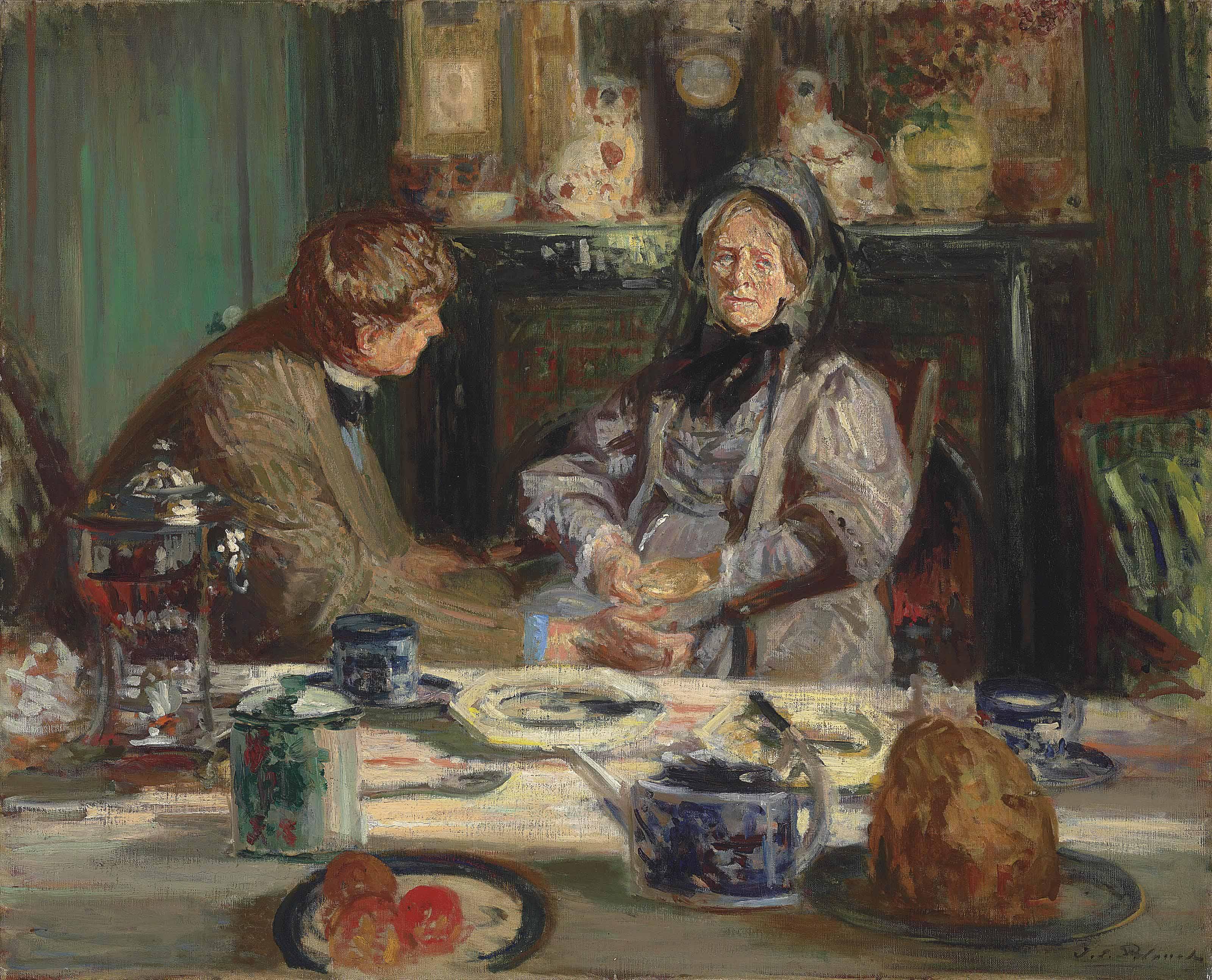Jacques Emile Blanche 1861 1942 Le Peintre Sickert Et Sa Mère