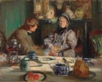 Le peintre Sickert et sa mère, Petit-déjeuner á Neuville