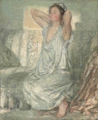 Lady in a chemise