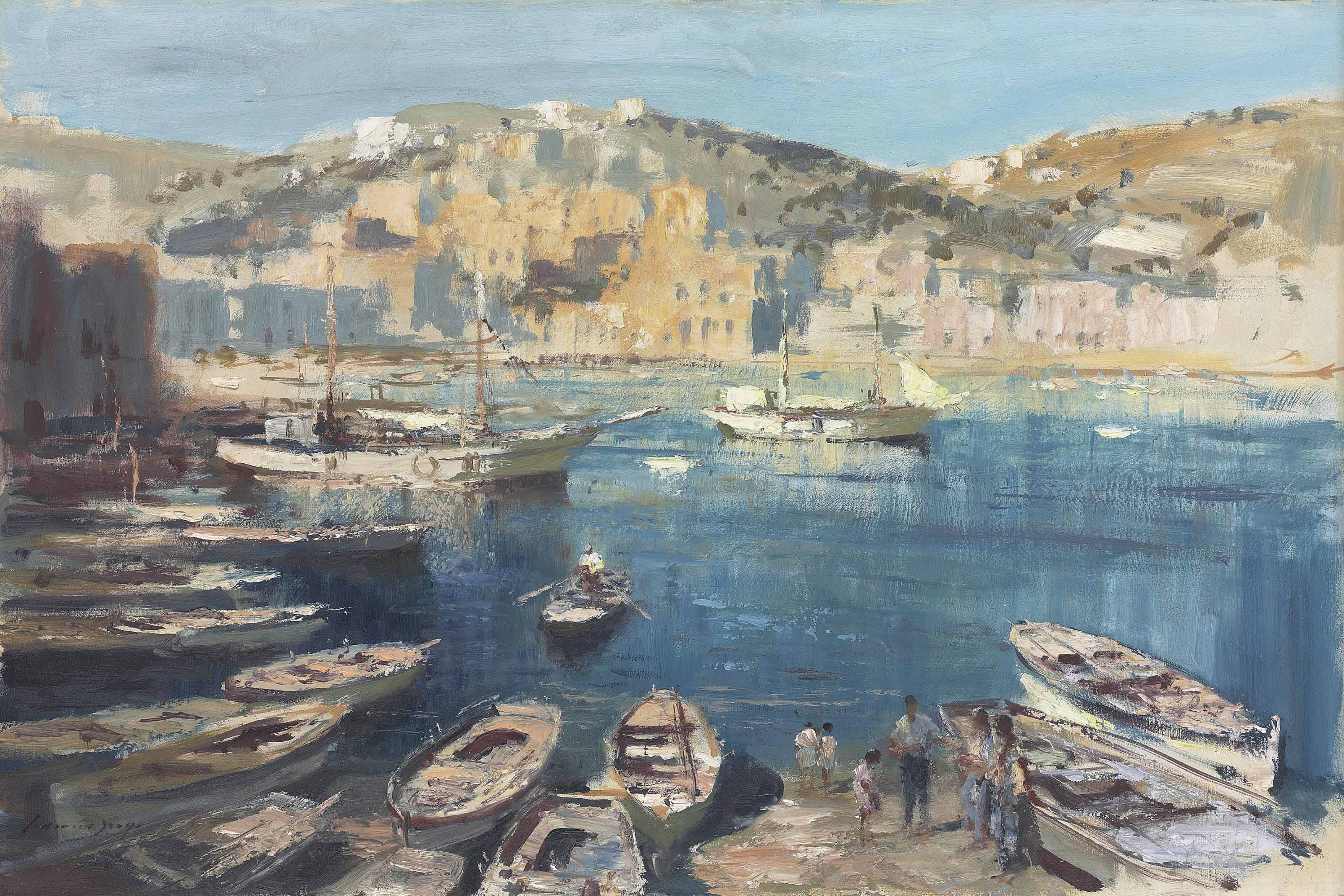 The Hard, Ponza harbour