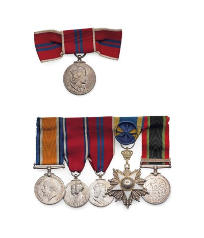 Group of five Medals to Major