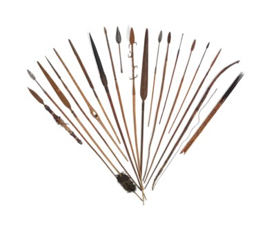 A GROUP OF AFRICAN SPEARS