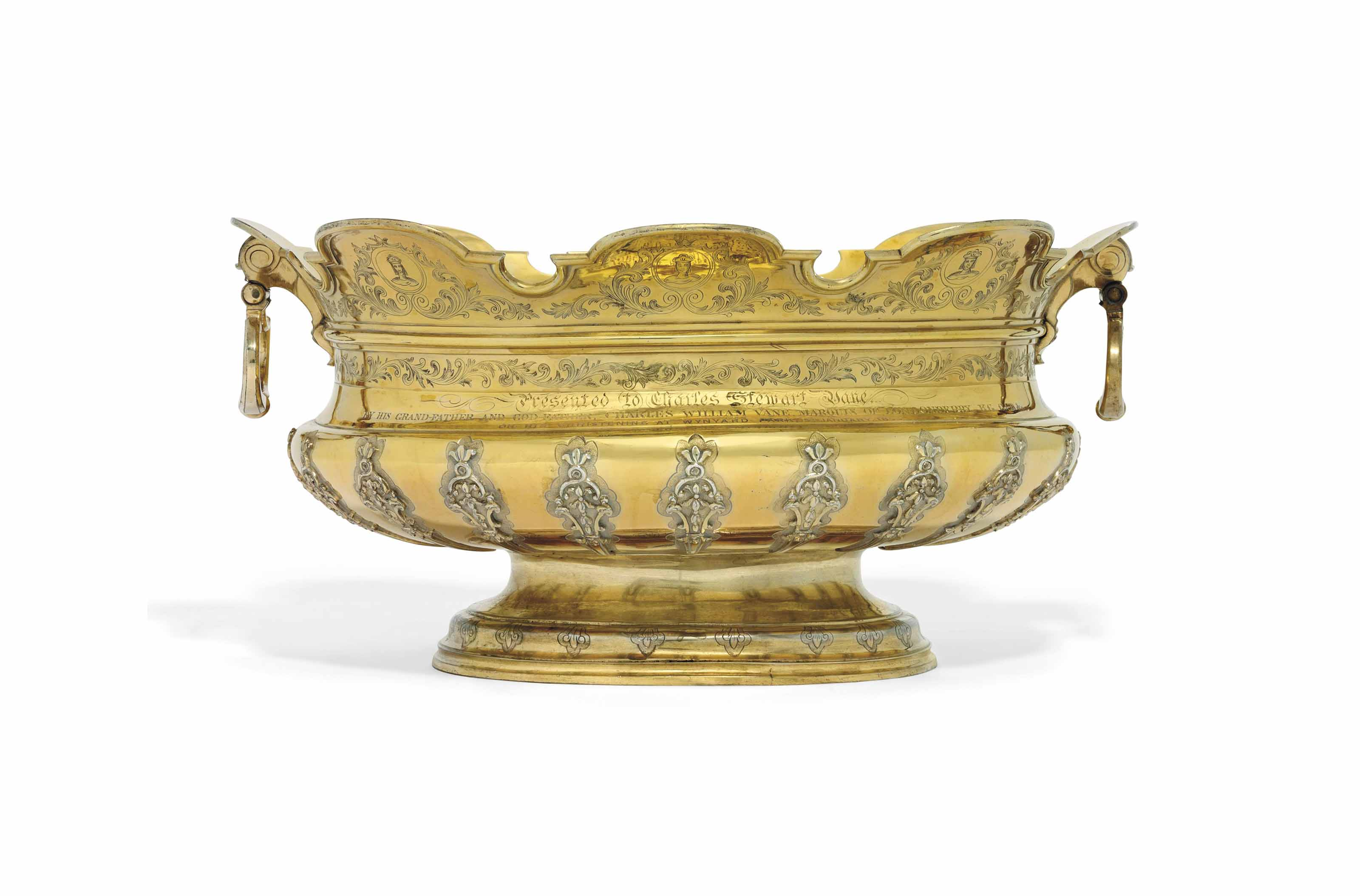 A DUTCH SILVER-GILT MONTEITH