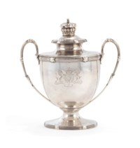A GEORGE III SILVER CUP AND COVER