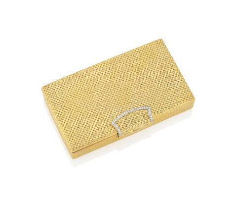 A GOLD AND DIAMOND-SET MINAUDI