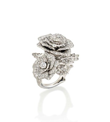 A DIAMOND 'ROSE' RING, BY DIOR