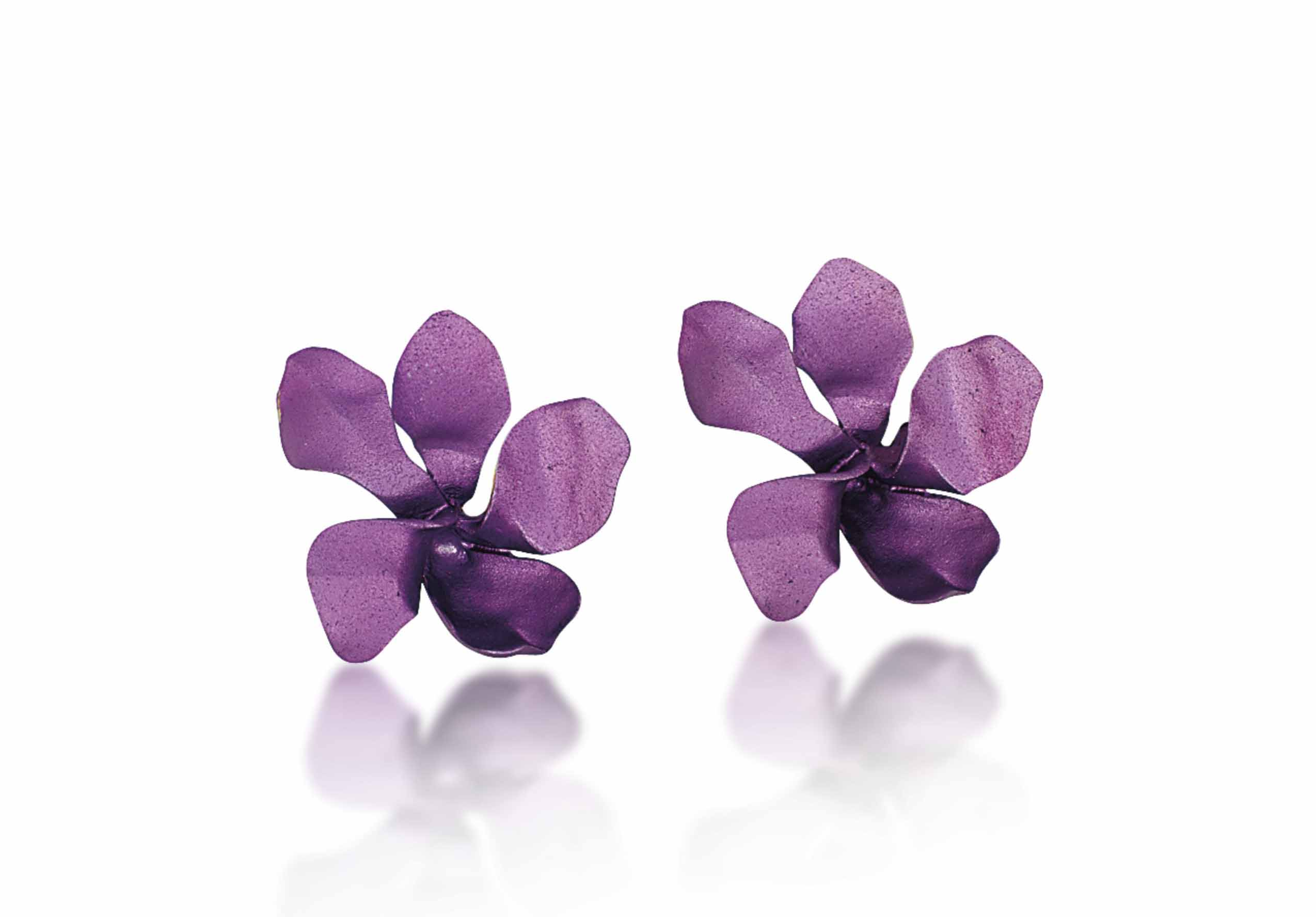A PAIR OF ALUMINIUM 'VIOLET' E