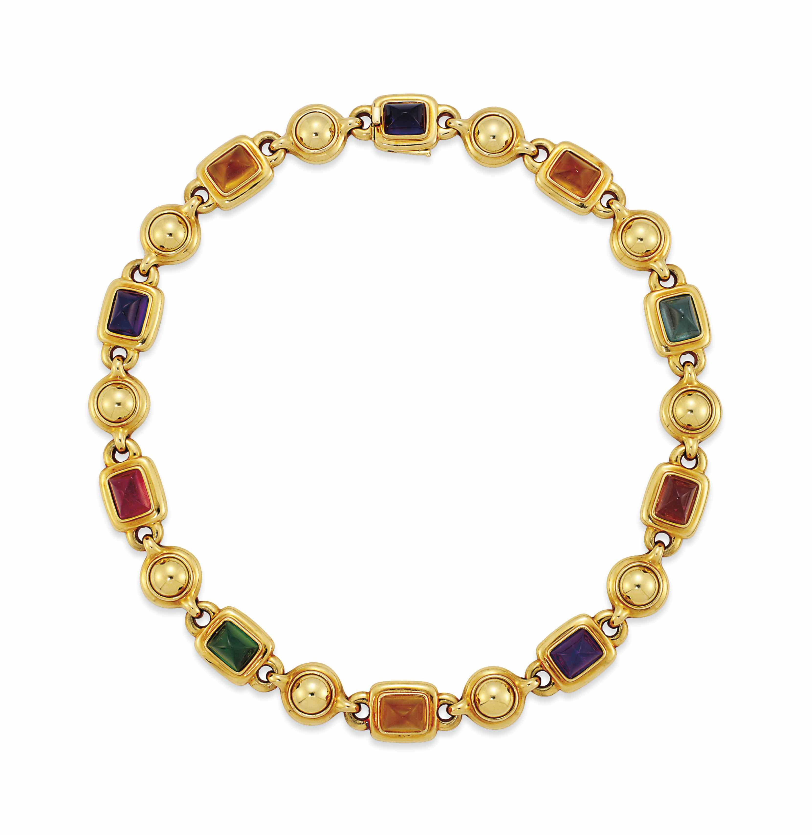 A GEM-SET NECKLACE, BY CHANEL