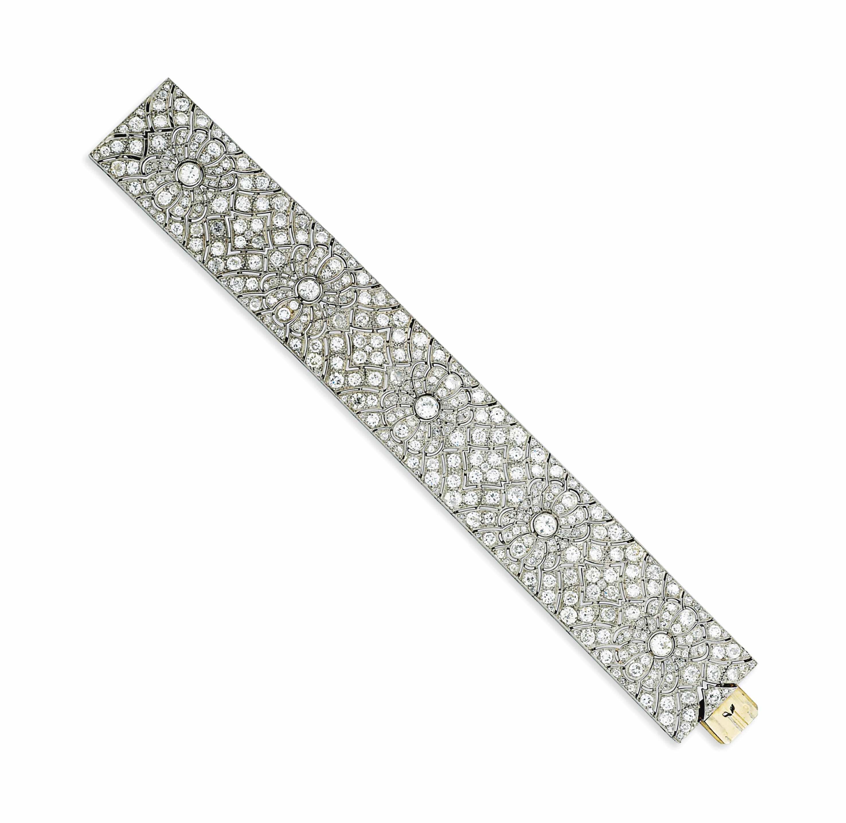 A BROAD DIAMOND BRACELET