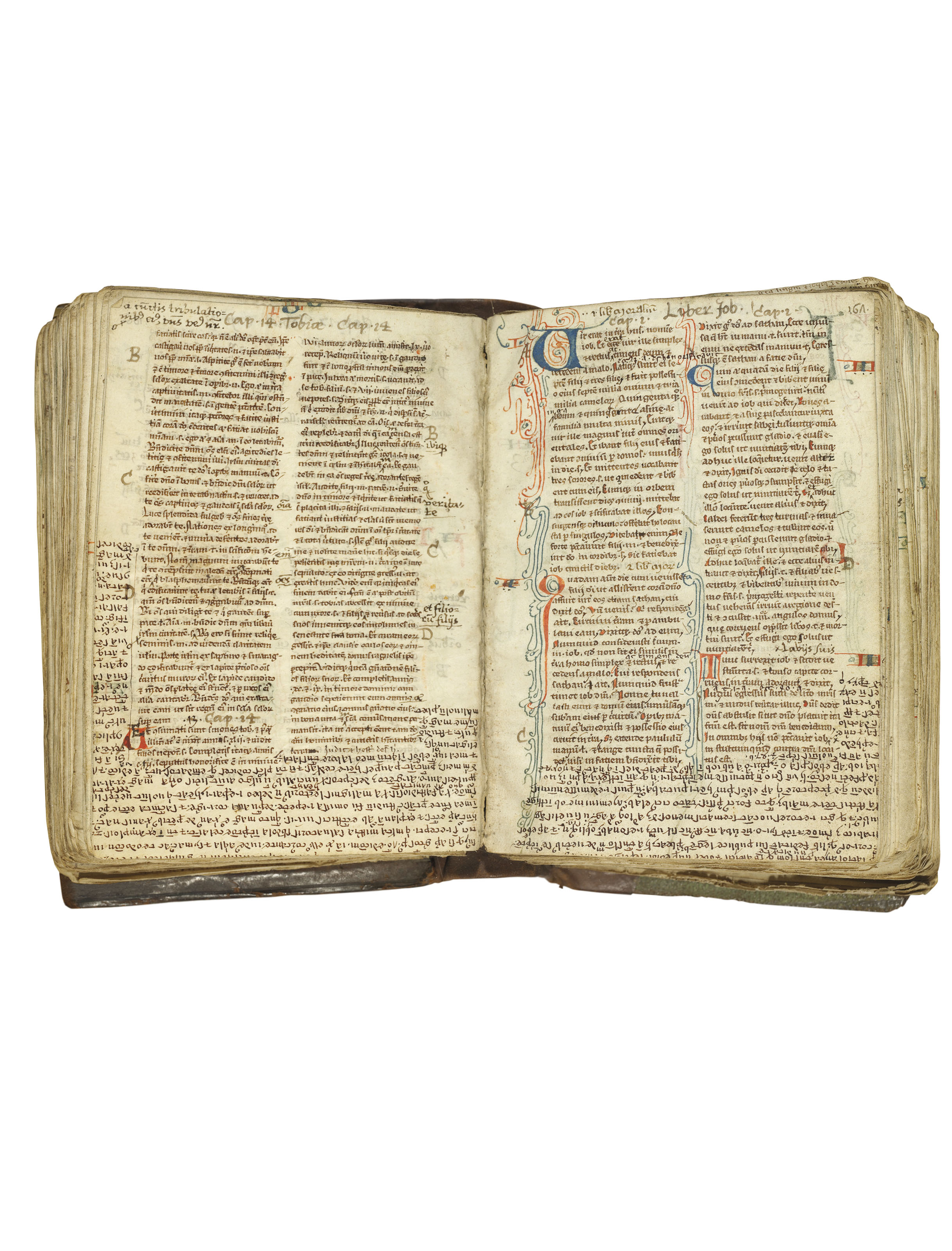 Bible with prologues in latin decorated manuscript on for Decorated bible