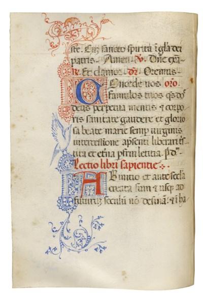 MASS BOOK, in Latin, ILLUMINAT