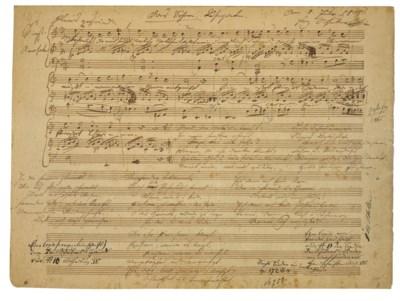 SCHUBERT, Franz (1797-1828). A