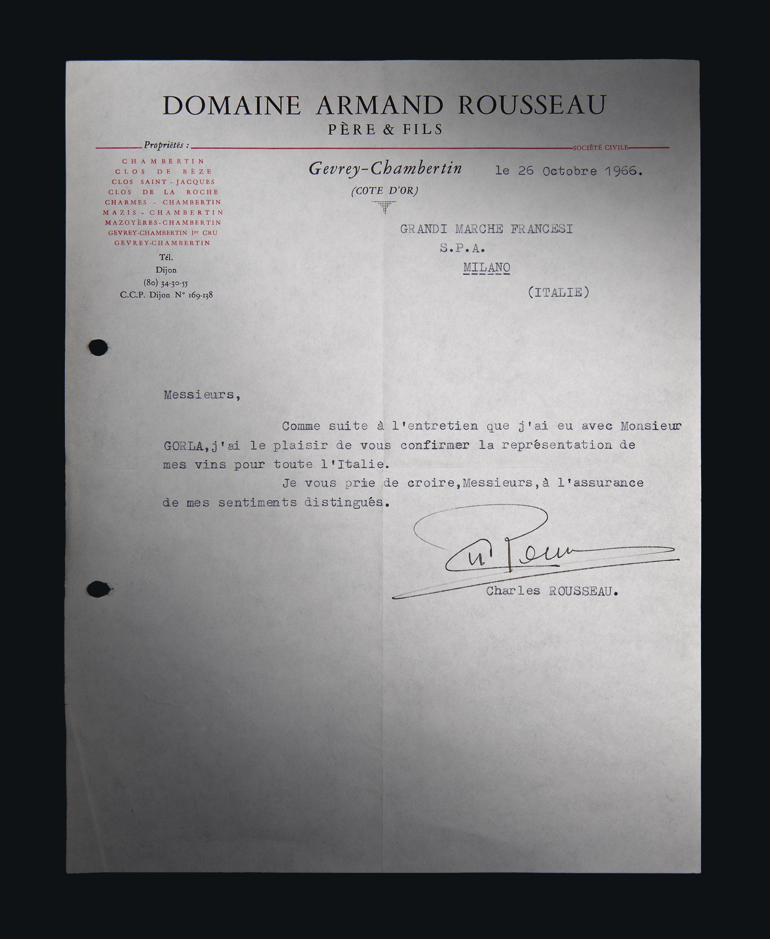 Henri Larmarche Pommard 1962