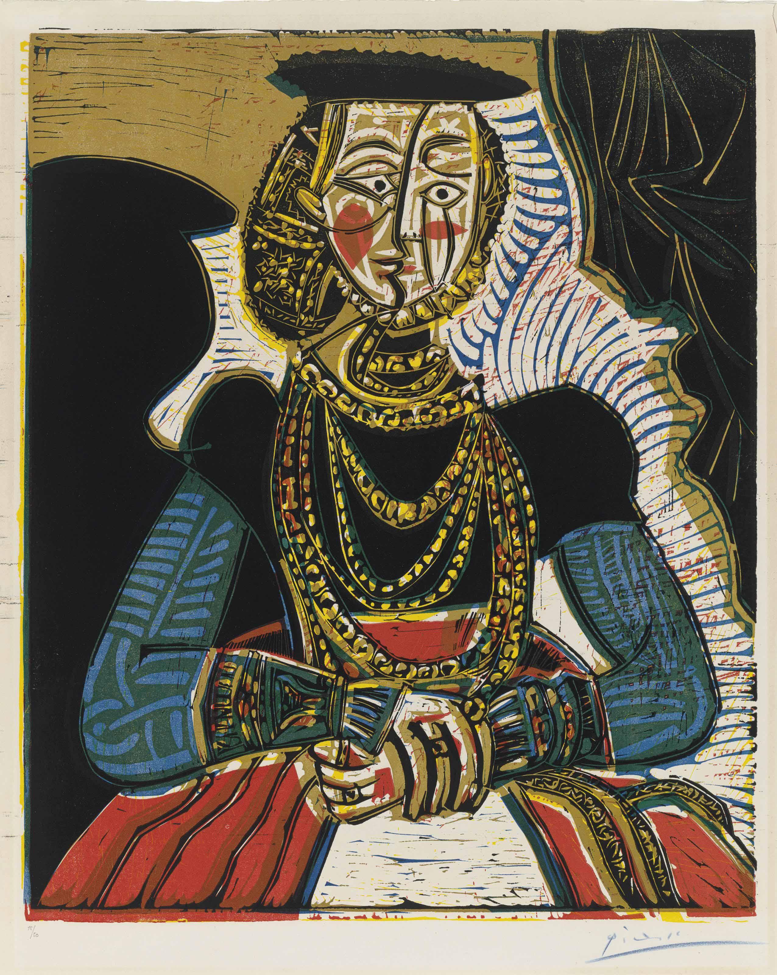 Pablo Picasso | Buste de femme d\'après Cranach le Jeune | Prints ...