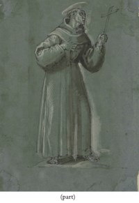 Saint Francis giving the Cord of the Order to the Franciscans