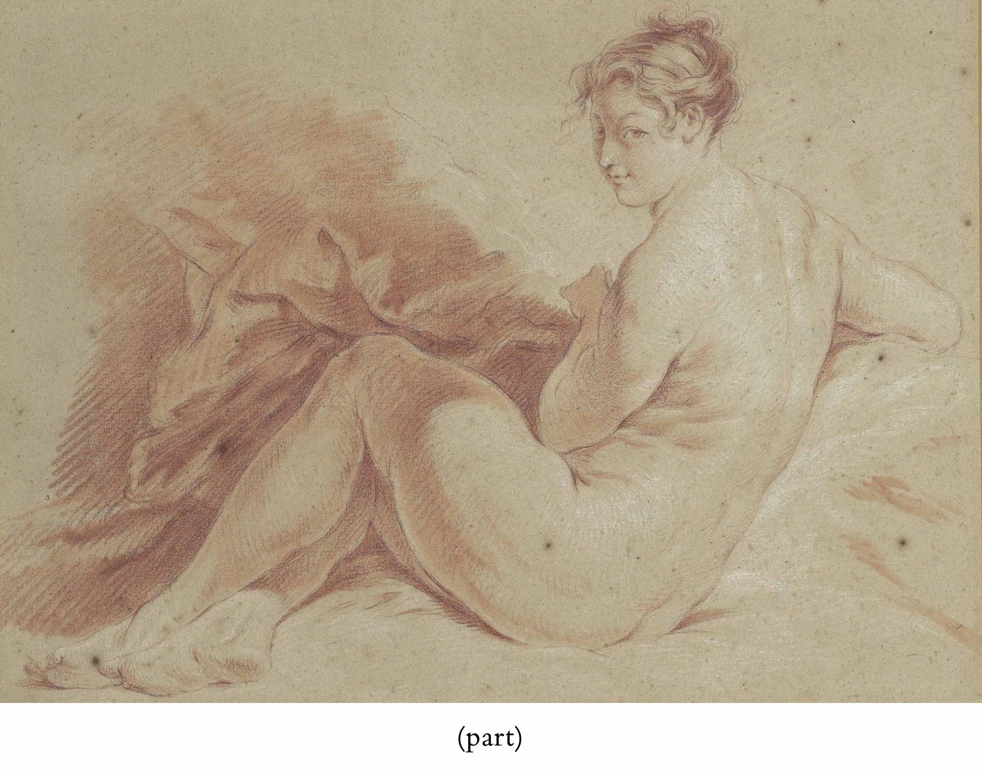 A seated female nude