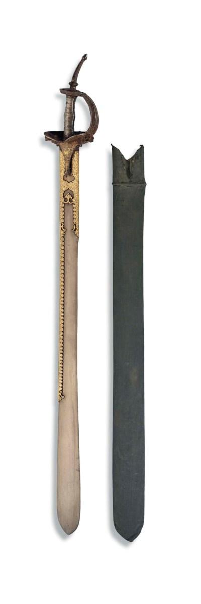 A GOLD-DAMASCENED SWORD (KHAND
