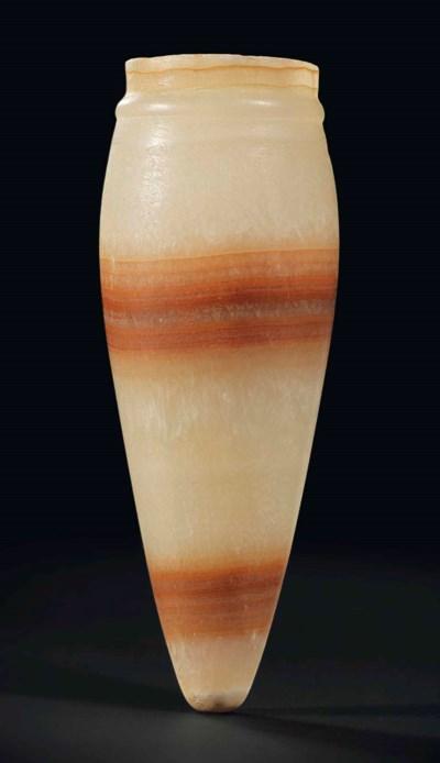 AN EGYPTIAN BANDED ALABASTER J