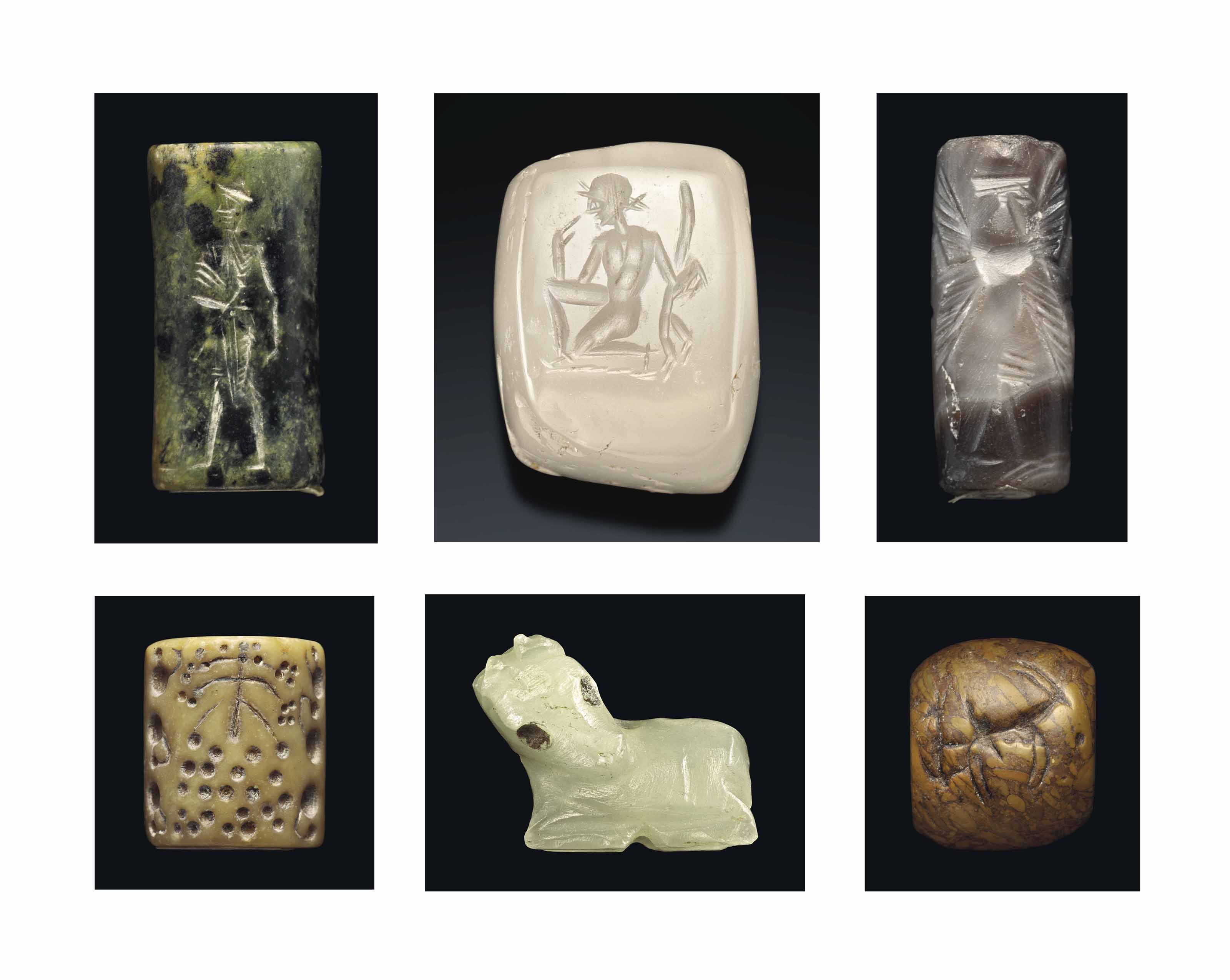 TWELVE ANCIENT STONE SEALS AND AMULETS | CIRCA 3RD-1ST MILLENNIUM