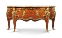 A FRENCH ORMOLU-MOUNTED KINGWOOD AND BOIS SATINÉ MARQUETRY COMMODE
