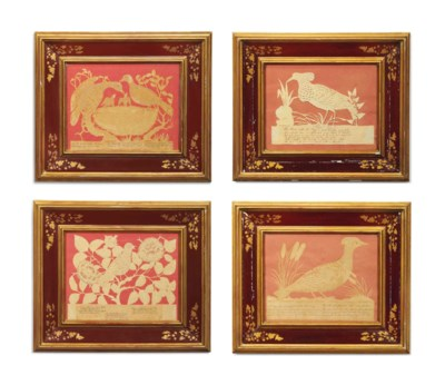 A SET OF FOUR REGENCY SILHOUET