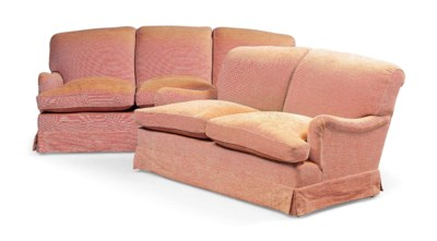 A THREE-SEAT SOFA AND A TWO-SE