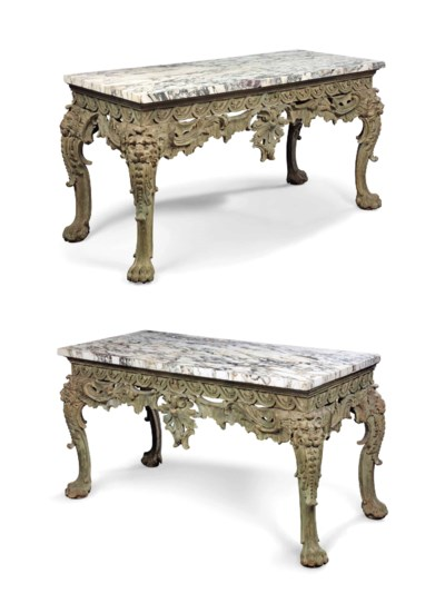 A PAIR OF ENGLISH 'PALLADIAN'
