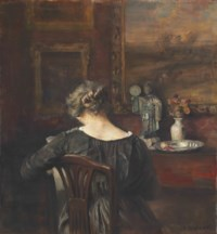 Interior with the artist's wife