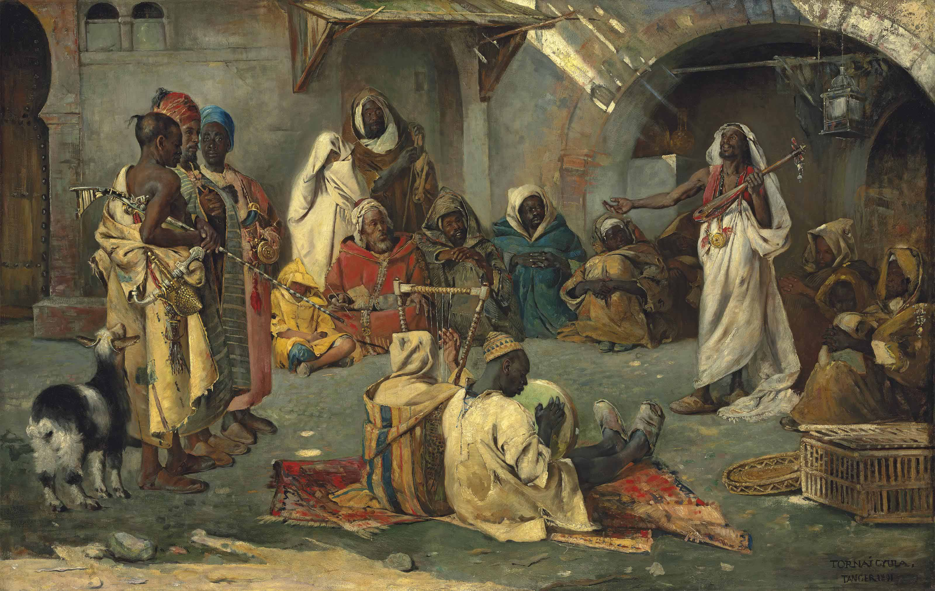 Travelling musicians, Tangier