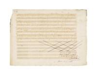 MOZART, Wolfgang Amadeus (1756-1791). Autograph music manuscript, Zwei deutsche Kirchenlieder, K.343 (336c), n.p., n.d. [Prague, January/February 1787].