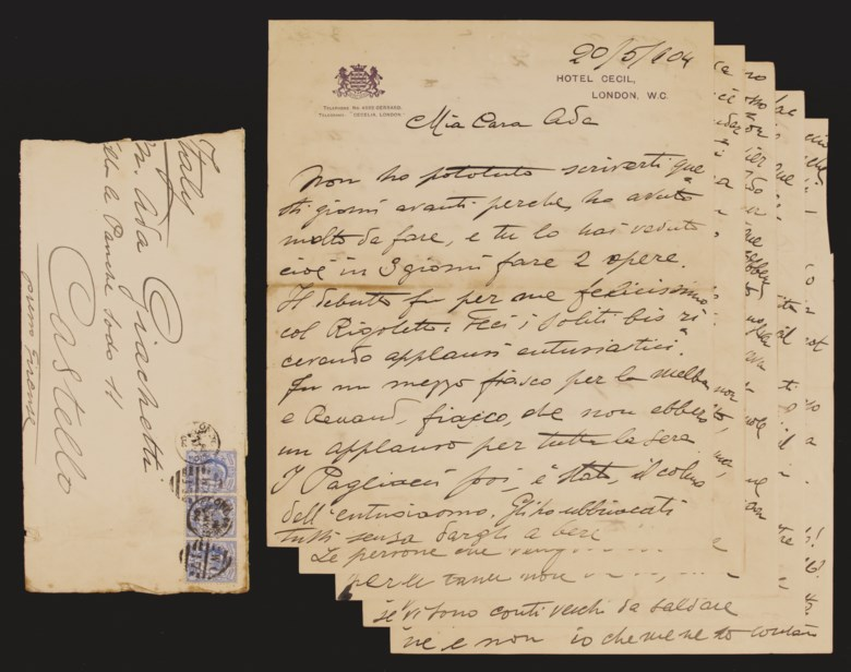 Enrico Caruso's personal archive of correspondence, 1897-1908, 1912-1921 comprising approximately 283 autograph letters signed and telegrams by Caruso and approximately 425 letters and telegrams addressed to him. Offered for private sale at Christie's