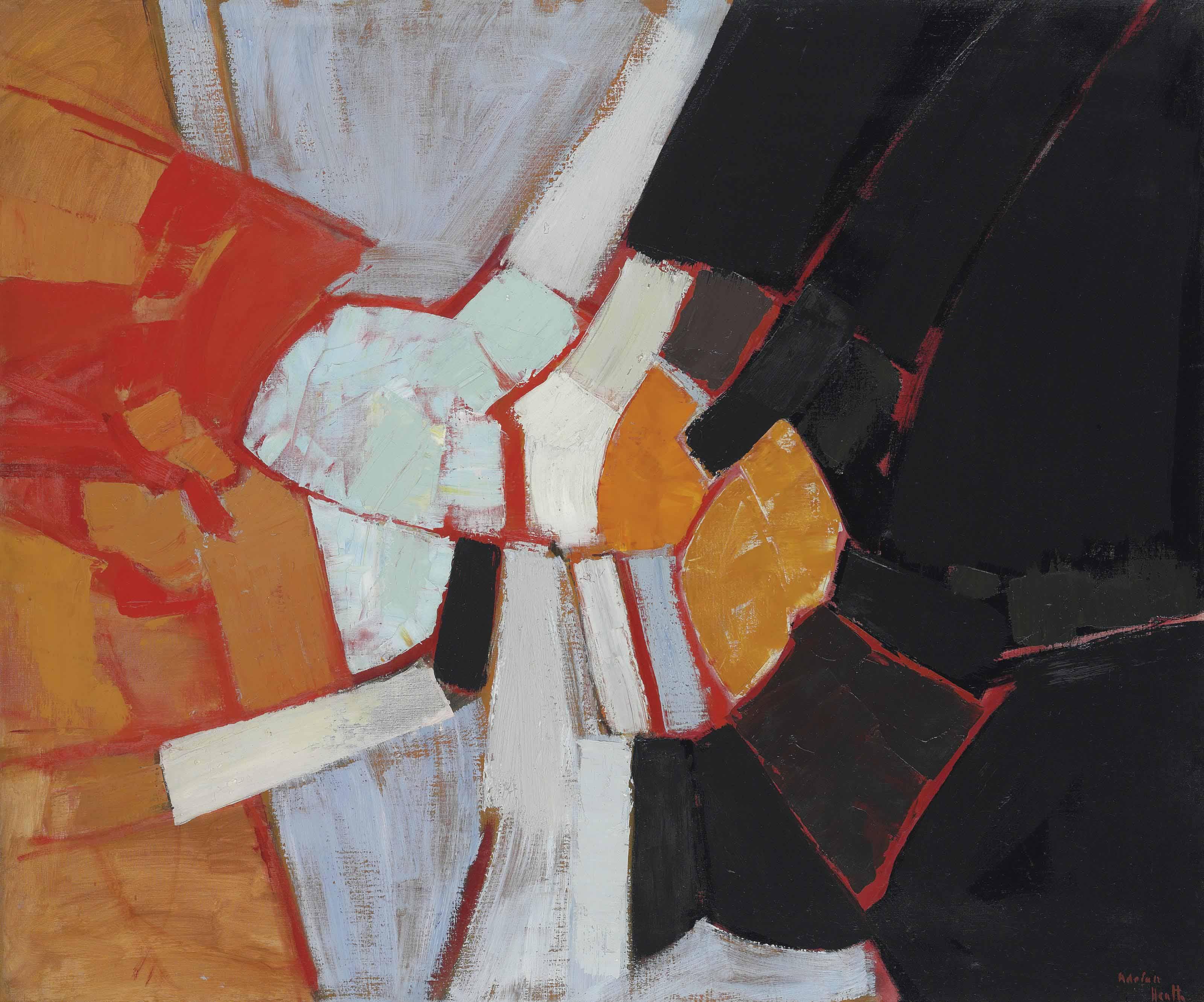 Composition (Black, Orange & Red)