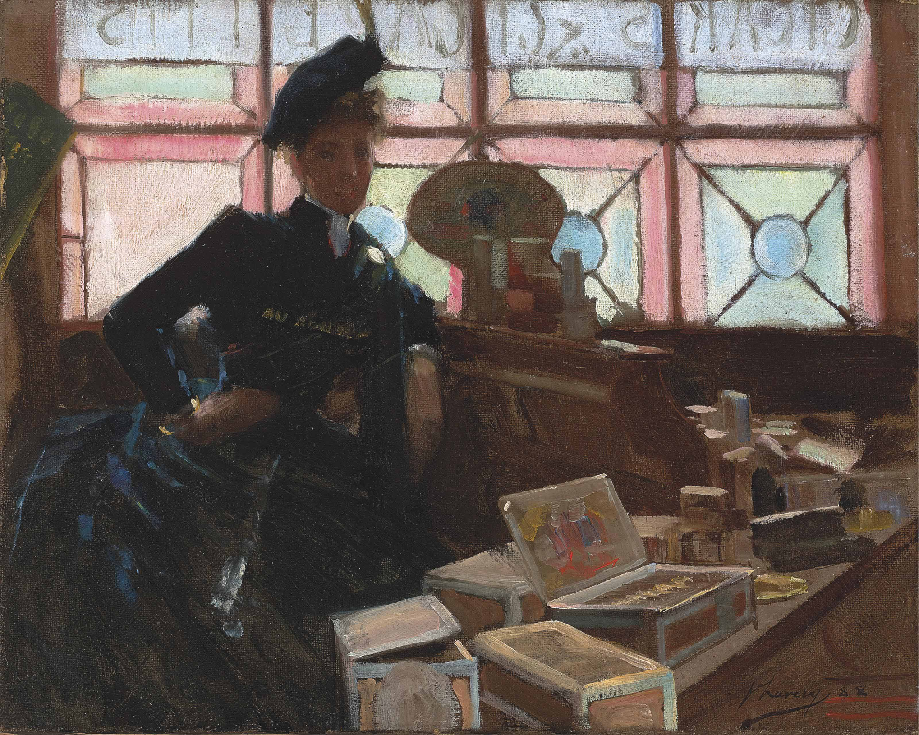 The Cigar Seller at the Glasgow Exhibition