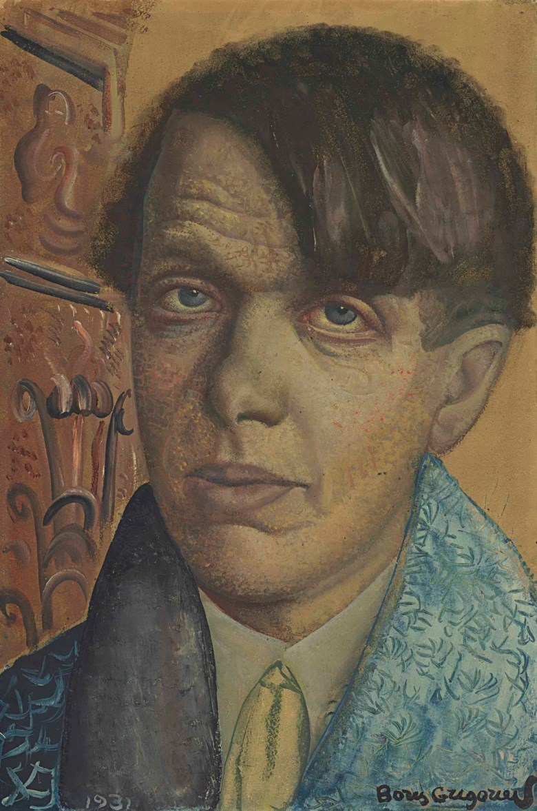 Boris Grigoriev (1886-1939), Self-portrait. 16⅞ x 11⅜  in (42.9 x 29  cm). Sold for £47,500 on 24 November 2014 at Christie's in London