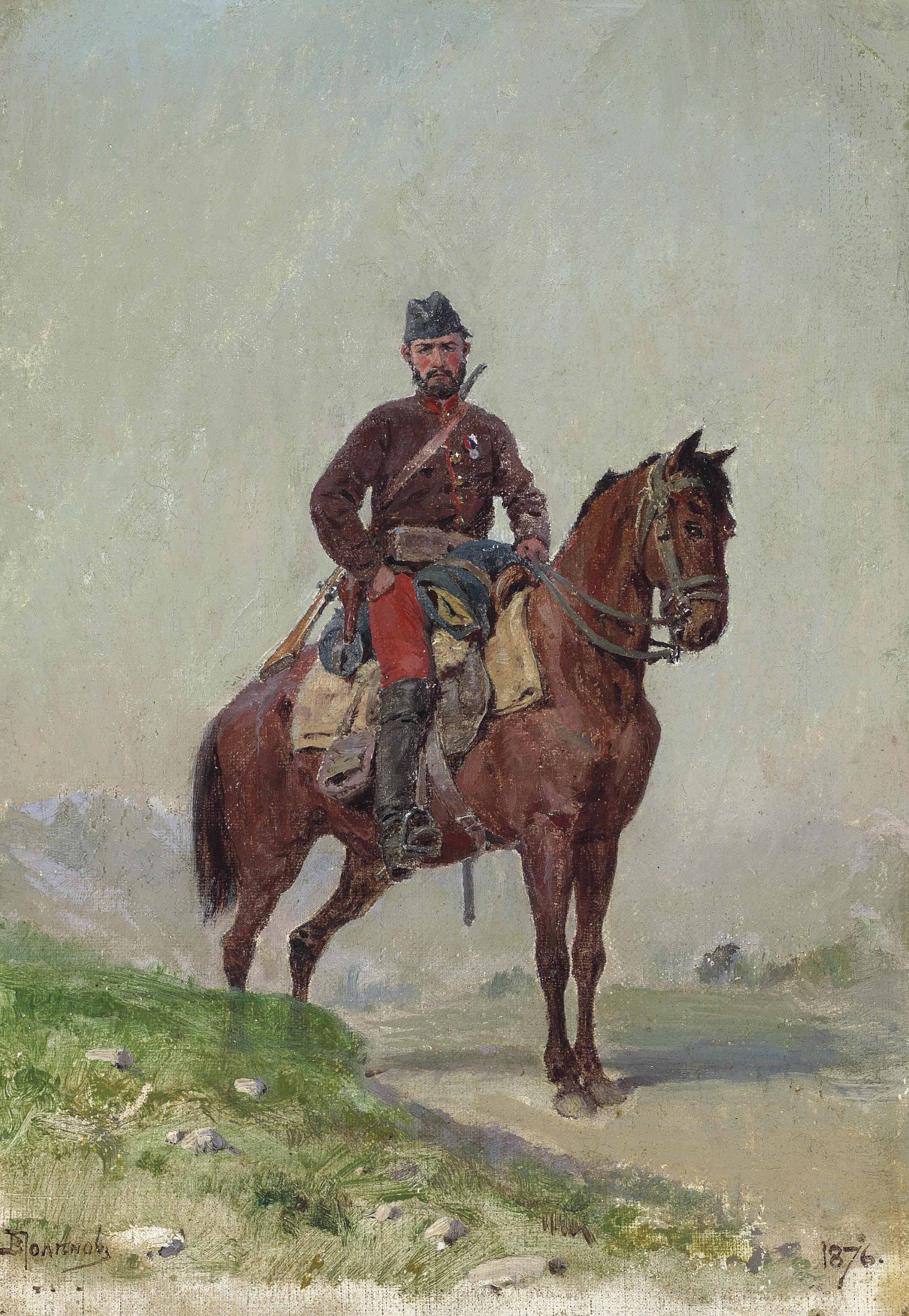 Cavalryman from the squadron of General Cherniaev