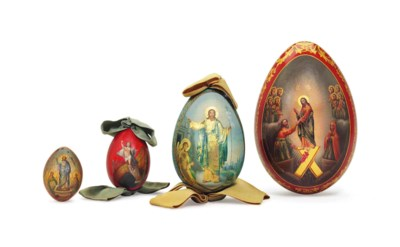 THREE PAPIER-MACHÉ AND LACQUER