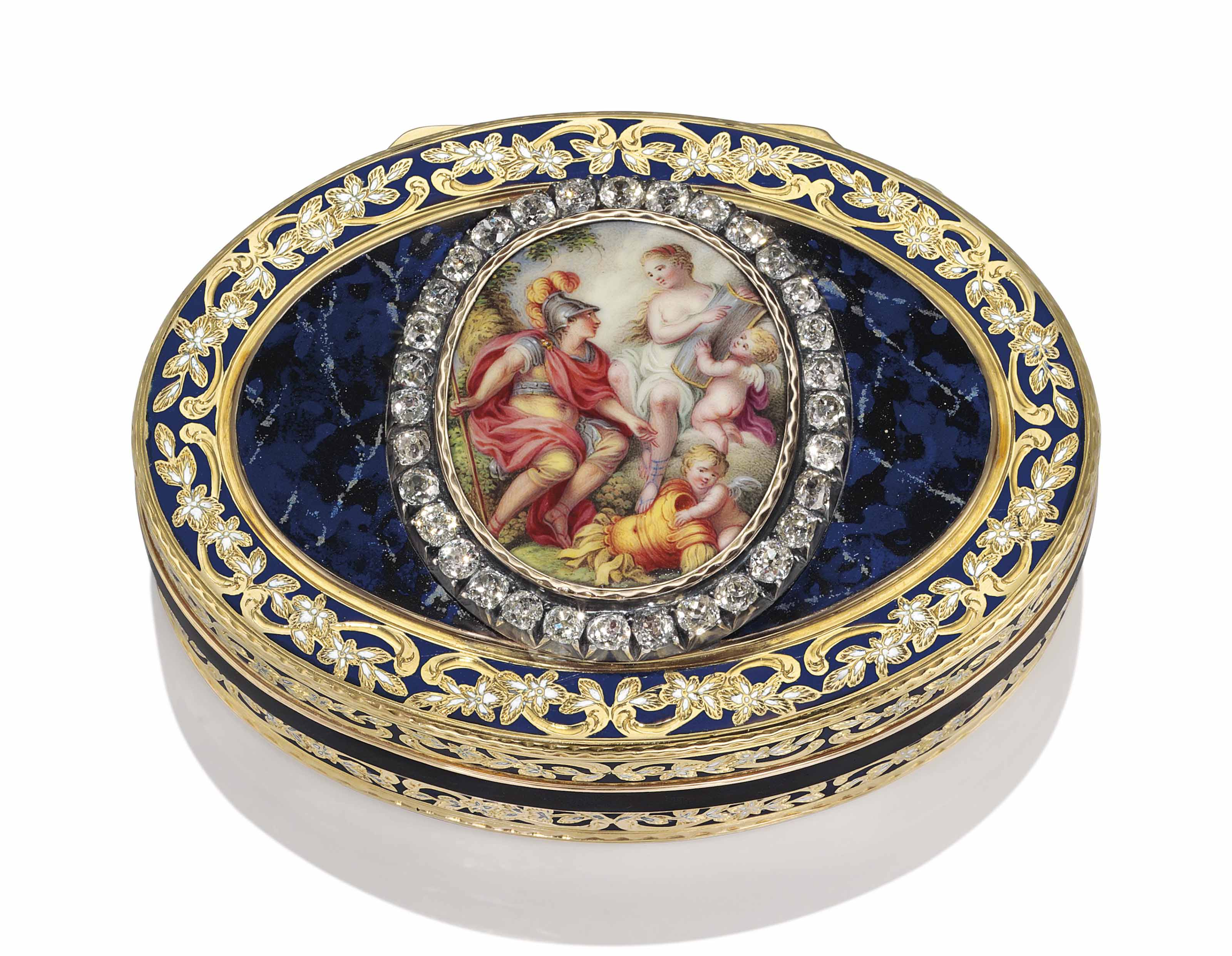 a german jewelled enamelled gold snuff box hanau circa 1780 struck with the hanau town mark. Black Bedroom Furniture Sets. Home Design Ideas