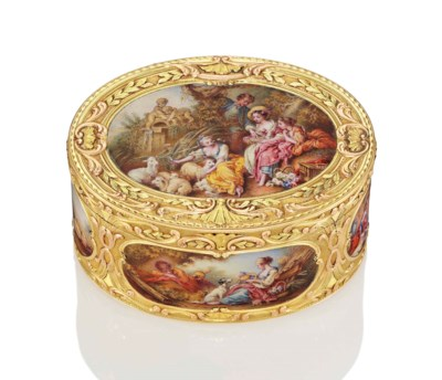 A GERMAN VARI-COLOUR GOLD BOX