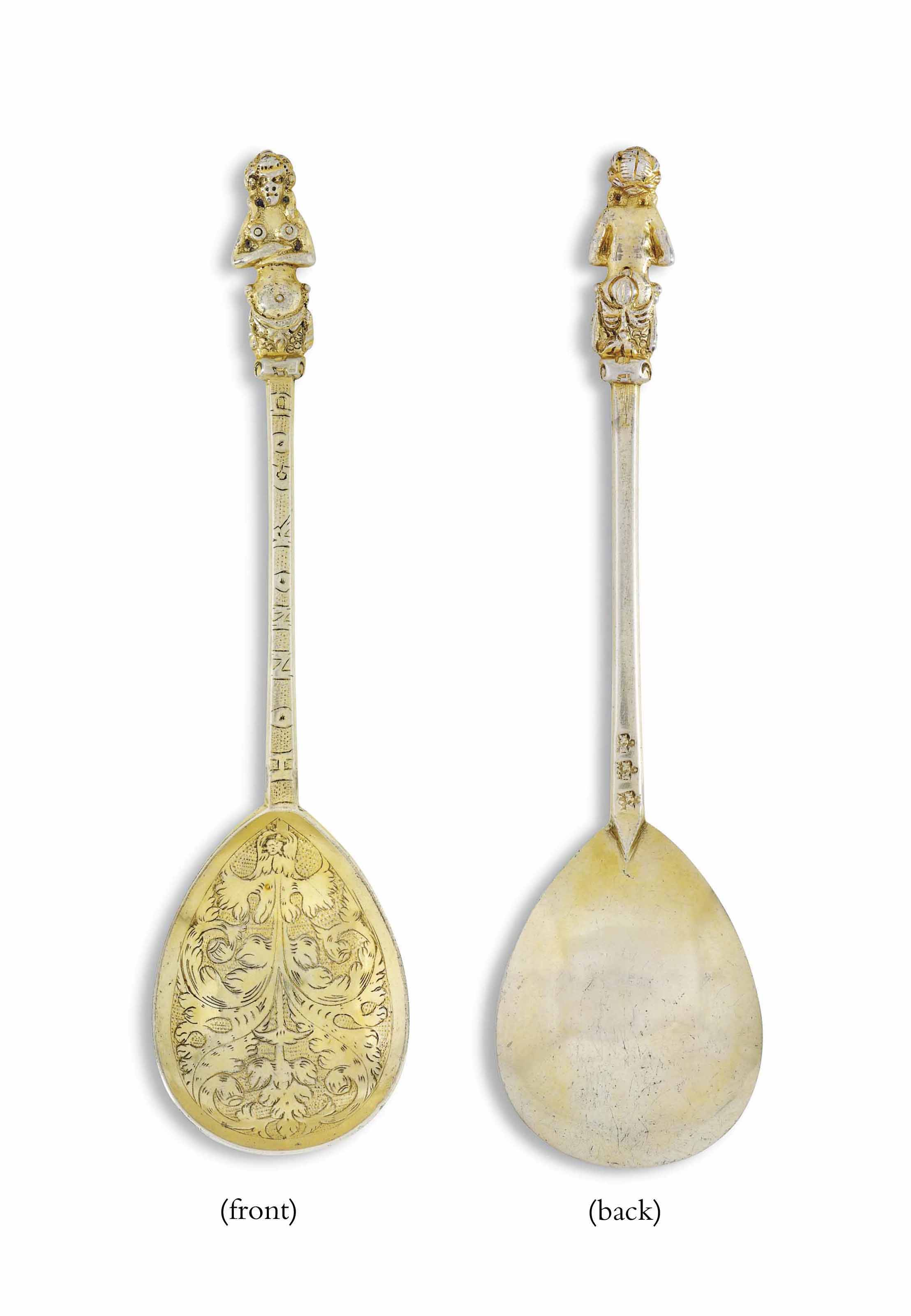 A JAMES I SILVER-GILT APHRODIT